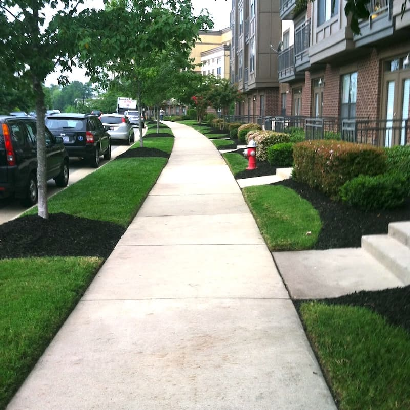 justgreen lawn care apartment landscaping