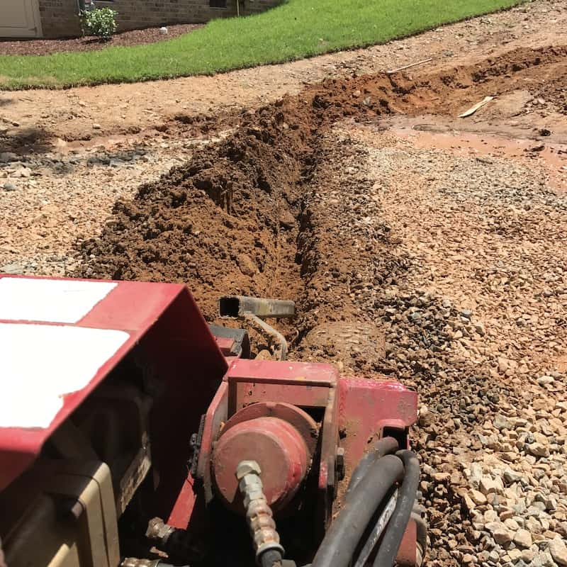 justgreen lawn care drainage