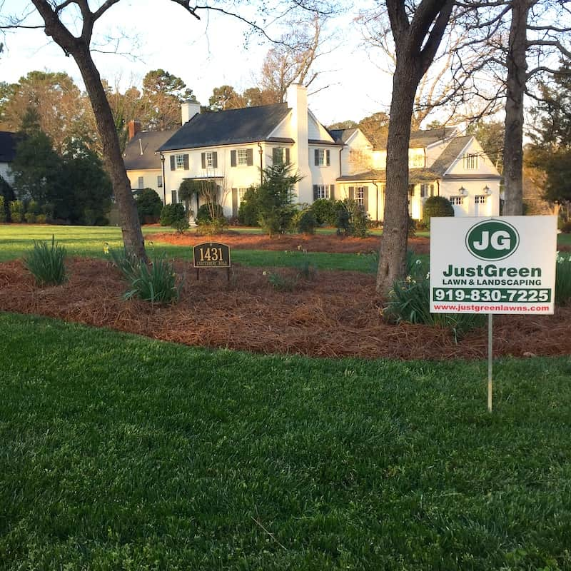 justgreen lawn care full service lawn maintenance